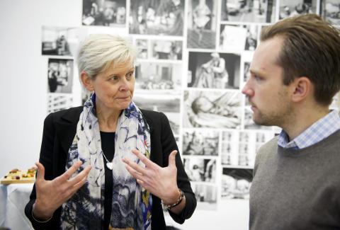 Svenskt Kötts Maria Forshufvud diskuterar svenska charkuterier med Martin Andersson från Scan