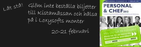 Loxysoft kommer till Kistamässan 20-21 februari
