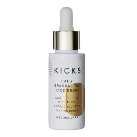 KICKS Daily Gradual Tan Face Drops MediumDark
