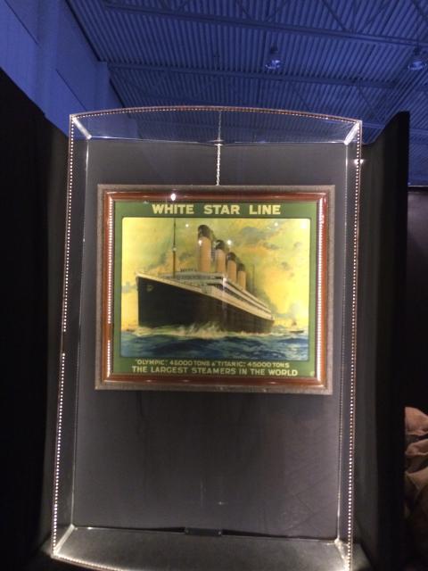 Unik tavla på plats på Titanic The Exhibition