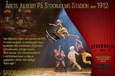 Stockholm 1912! Årets julbord med underhållning signerad Cirkus Cirkör