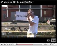 Kända Malmöbor i film om valet