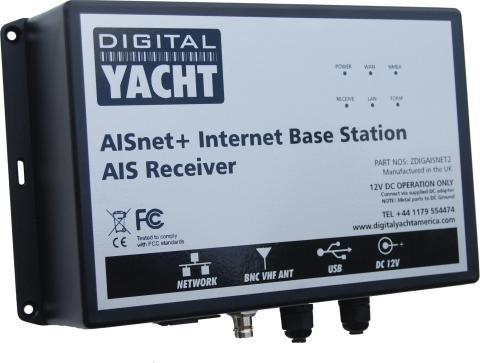 AISNet Plus - Station terrestre AIS simple à installer grâce au répartiteur d'antenne VHF intégré