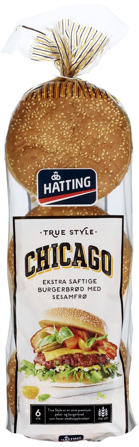 True Style Chicago hamburgerbrød
