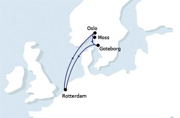 New feeder line to the Netherlands and Norway
