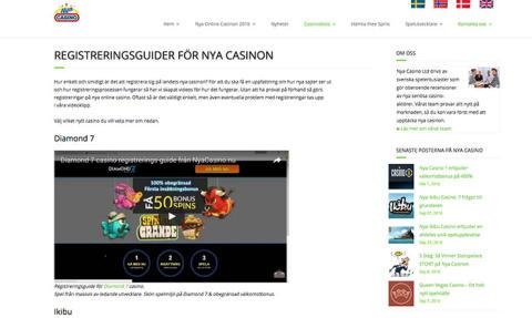 Nya Casino släpper registreringsguider i HD-format