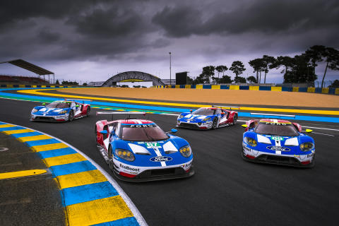 Ford Le Mans 2017 4-car shot