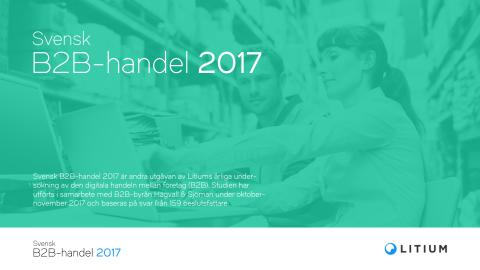 Svensk B2B-handel 2017