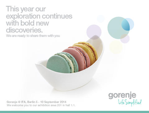Exciting future is around the corner. Gorenje @IFA 2014