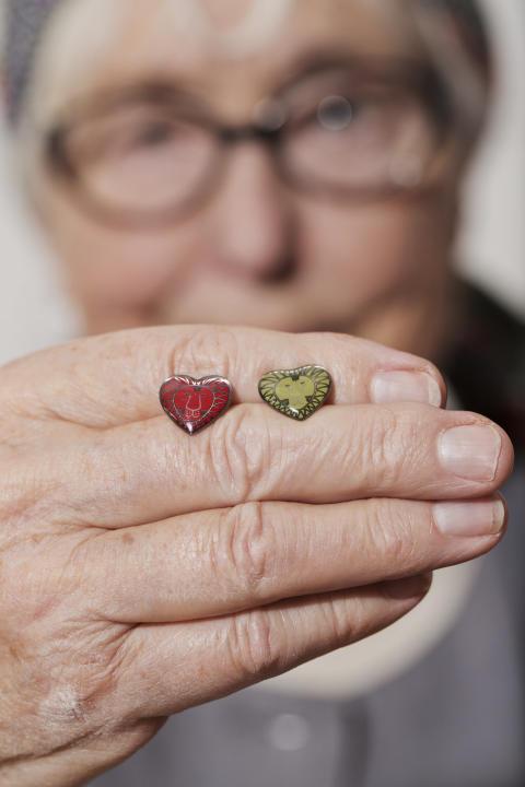 Hjärt-Lungfondens hjärtepins 2014