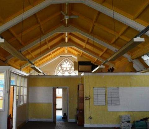 How the area which could be turned into a lesser hall looks now