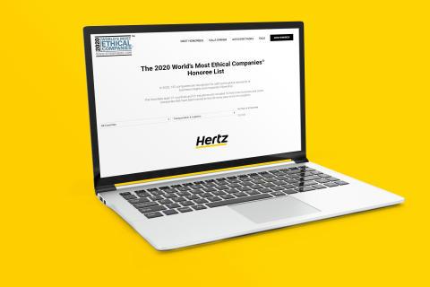 Hertz rangert som et av verdens beste selskaper på etisk forretningsdrift