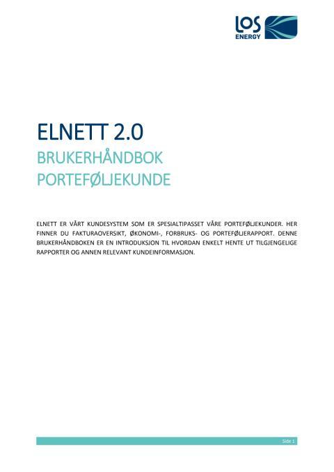 Elnett 2.0: Brukerhåndbok porteføljekunde