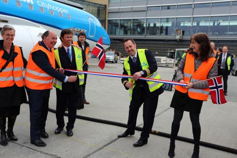 Første flyvning med biodrivstoff: Oslo - Amsterdam