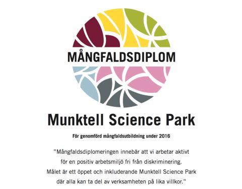 Sveriges första mångfaldsdiplomerade science park