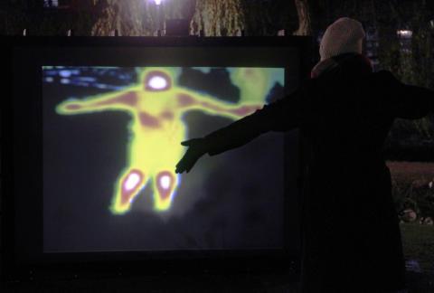 Skadegörelse av konstverk på Norrköping Light Festival