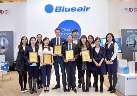 Blueair Honored With 'Best Air Purifier In China' Award And Four Other Top Accolades At Keynote Air Cleaner  Industry Forum in Beijing