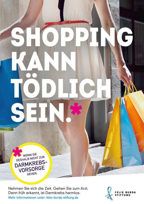 """Anzeige """"Shopping kann tödlich sein"""""""