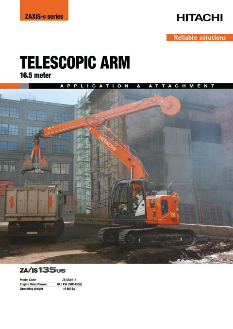 Broschyr_Delvator_Hitachi_ZX135US-6 CTA_Clamshell_telescopic arm