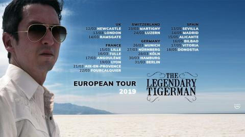 """THE LEGENDARY TIGERMAN:  Blues-Punk """"Misfit"""" Announces European Tour Dates"""