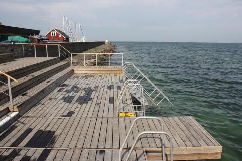Välkommen på invigning av nya badbryggan i Skanörs hamn!