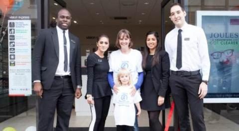 ​Eye cancer youngster opens new Vision Express store in Camden