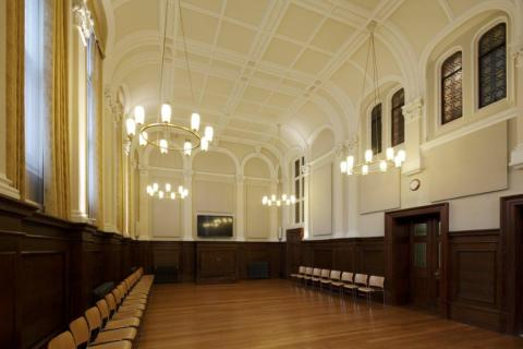The beautiufully restored Church Hall