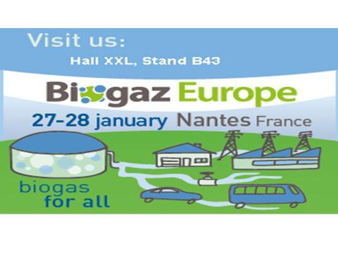 Biogaz Europe 2016 in Nantes, France