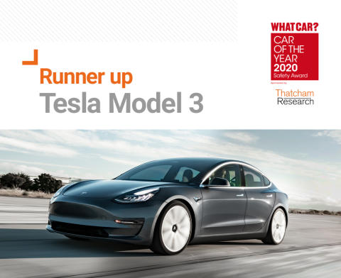What Car? Safety Award runner up - Tesla Model 3