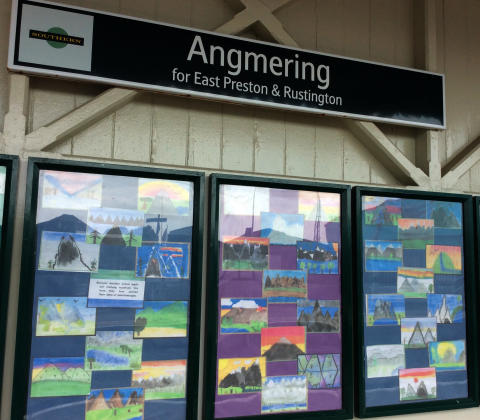 Art, Angmering station partnership May 2017