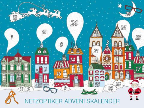 Netzoptiker-Adventskalender 2013 mit Aktionen, Rabatten und Gewinnspielen rund um die Brille