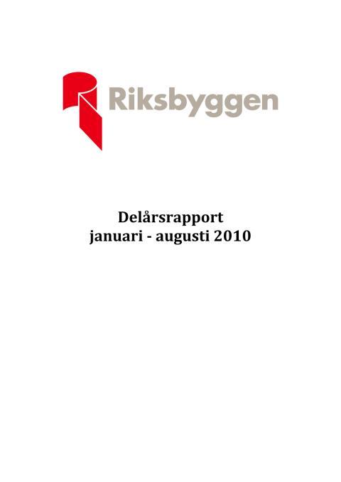 Delårsrapport 2010-09