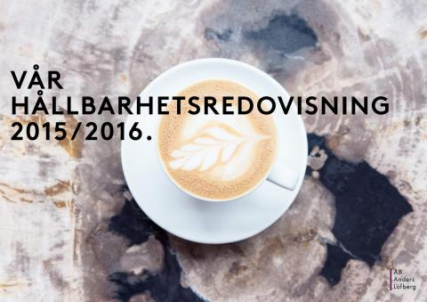 Hållbarhetsredovisning 2015/2016