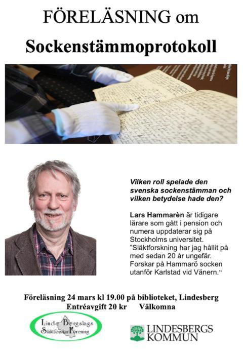 Lindesberg: Föreläsning om sockenstämmoprotokoll: INSTÄLLT