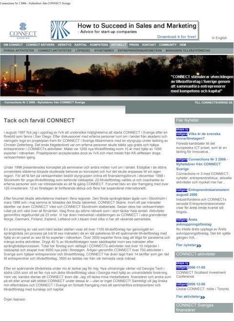 Connections Nr 3 2006 - Nyhetsbrev från CONNECT Sverige