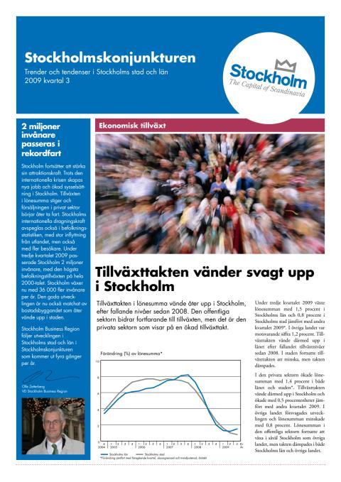 Stockholmskonjunkturen Q3 2009