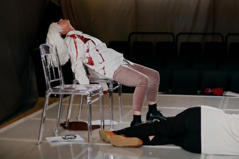 Repetitionsbild, Hamlet, våren 2017