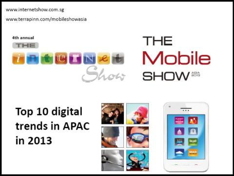 Top 10 digital trends in APAC in 2013