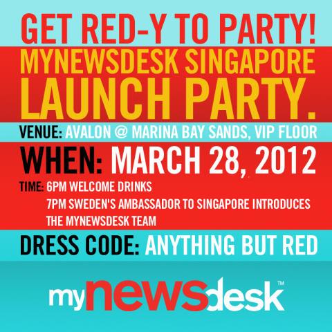 Mynewsdesk Singapore VIP Launch Party!