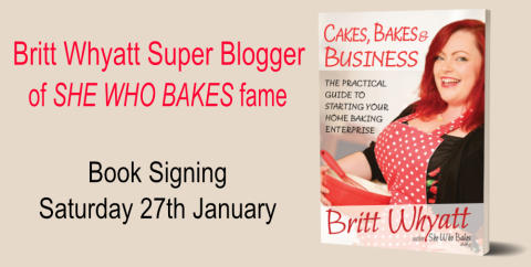 Award Winning Baking Blogger Book Signing