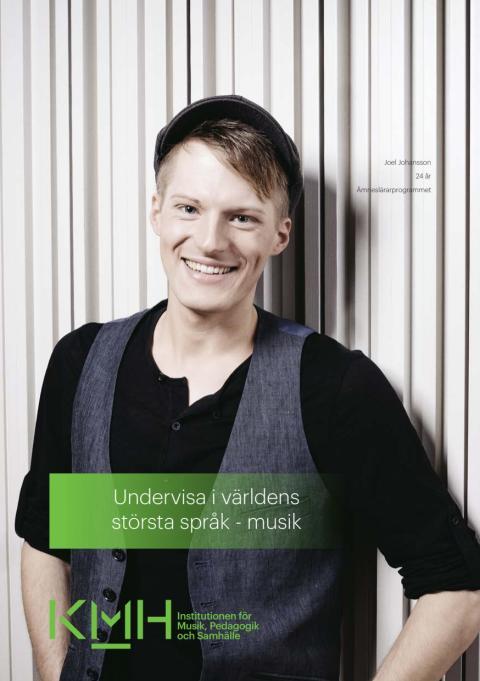 Folder om Kungl. Musikhögskolans ämneslärarprogram i musik (pdf)