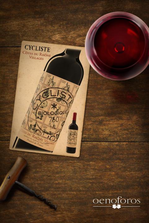 Ett makalöst populärt ekovin! Cycliste Côtes du Rhône Villages 2014, 89 kr som med raketfart cyklar in i ordinarie sortiment