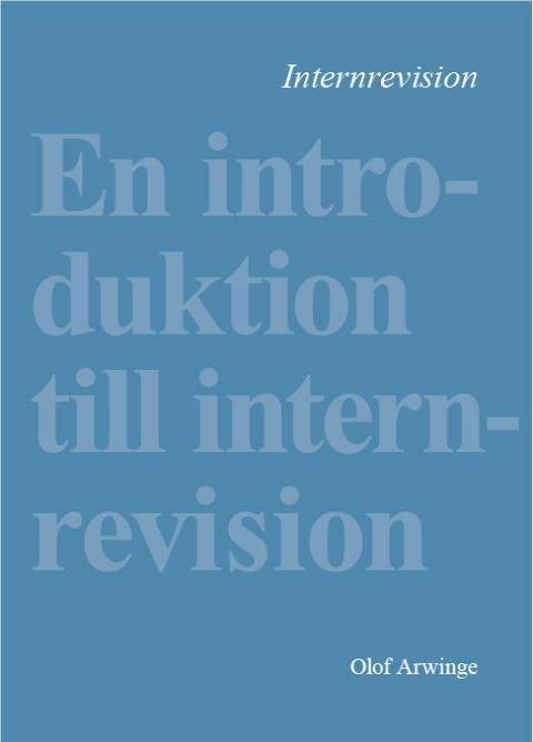 Första läroboken om internrevision på svenska!