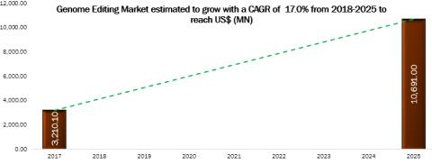 Genome Editing Market Business Opportunities, Application Analysis, Growth Trends, Key Players, Competitive Strategies and Forecasts, 2017 – 2025