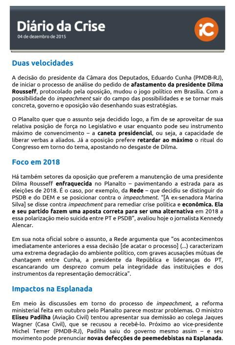 Diário da Crise - 04.12.2015