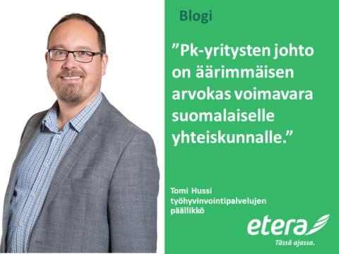 Tomi Hussi: Ymmärretäänkö pk-yrityksen toimitusjohtajan arvo oikein?