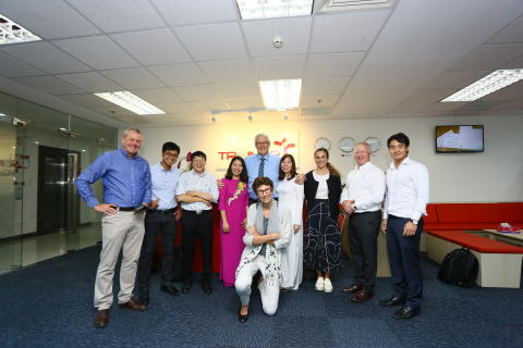 Norwegian Ambassador, Ms. Grete Løchen, visited the office of Trainor Vietnam