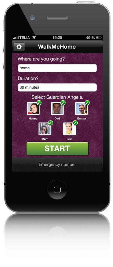 WalkMeHome - Start walking (iPhone)