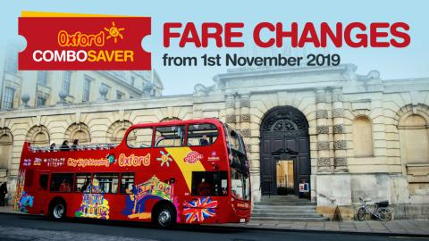 City Sightseeing ComboSaver Fare Changes - 1st November 2019