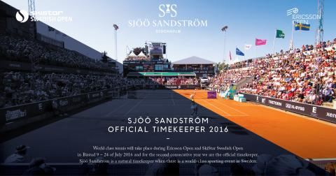 Sjöö Sandström - Official Timekeeper för Skistar Swedish Open & Ericsson Open i Båstad 2016.